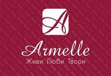 Роллап Armelle, логотип на красном фоне, вариант 1